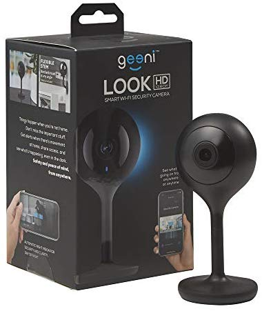 Geeni LOOK 1080p HD Smart Indoor Surveillance Camera for Home Security – No Hub Works with Amazon Alexa, Google Assistant & Microsoft Cortana, Requires 2.4 GHz Wi-Fi, Black